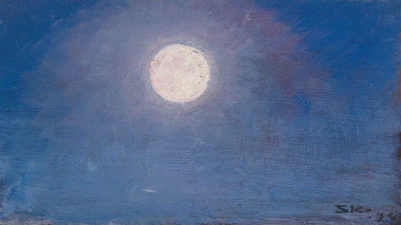P.S. Krøyer: Fuldmåne. 1894. Gave 1928 fra apoteker V.Chr. Klæbel og hustru. Skagens Kunstmuseer