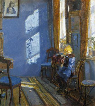 Solskin i den blå stue