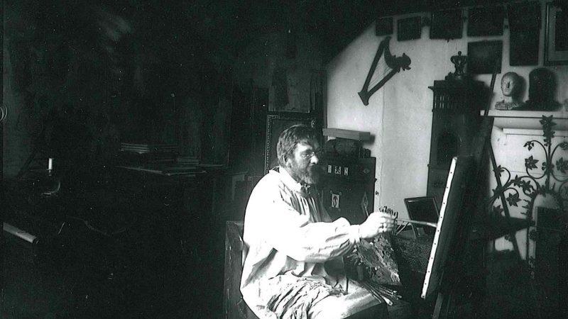 P.S. Krøyer i sit atelier