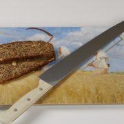 skærebræt høstarbejder med brød