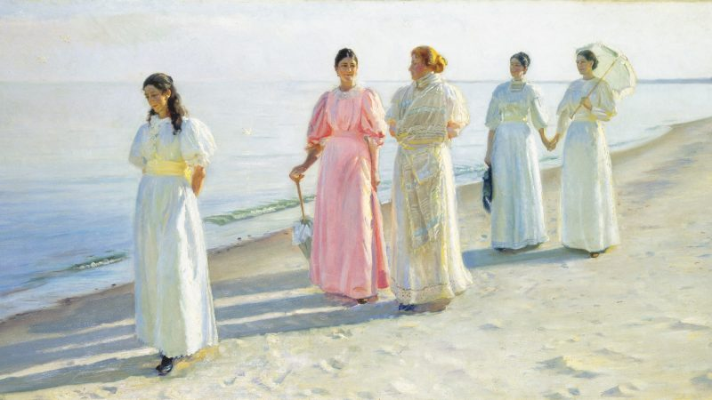 Michael Ancher. En strandpromenade. 1896 (detalje)