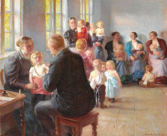 Anna Ancher. En vaccination. 1899