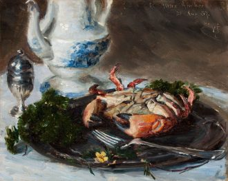 Nature morte med krabbe