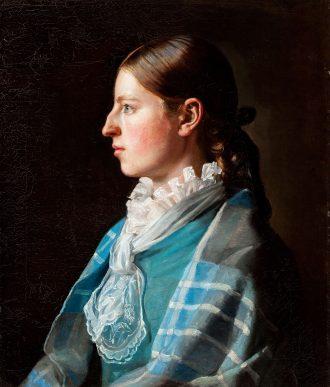 Michael Ancher. Portræt af kunstnerens forlovede Anna Brøndum (1878) | Anchers Hus