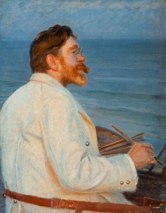 Michael Ancher. P.S. Krøyer malende på Sønderstrand. 1907 | Anchers Hus