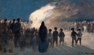 P.S. Krøyer. Skt Hansblus på Skagen (1894) | Anchers Hus