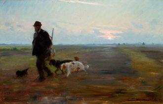 Michael Ancher vender hjem fra jagten