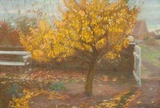 Anna Ancher. Pæretræet i Anchers forhave, efterår (1888) | Anchers Hus