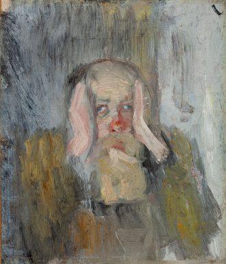Christian Krohg. Dagen derpå, selvportræt. Antageligt 1883 | Anchers Hus