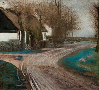 L.A. Ring. Gadekæret i Baldersbrønde. 1907 | Anchers Hus