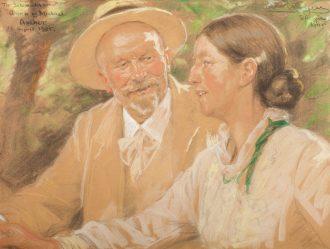 P.S. Krøyer. Sølvbrudeparret Michael og Anna Ancher (1905) | Anchers Hus