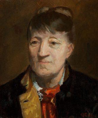 Portræt af den norske maler Kitty Kielland