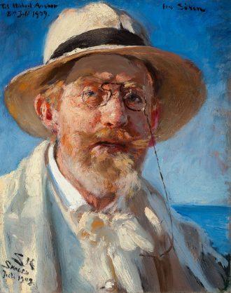 P.S. Krøyer. Selvportræt. 1909 | Anchers Hus