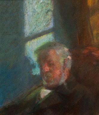 Portræt af Erik Brøndum, kunstnerindens fader