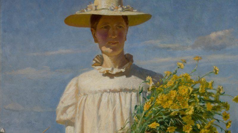 Michael Ancher. Anna Ancher vender hjem fra marken. 1903. SKM1093 (Detalje)