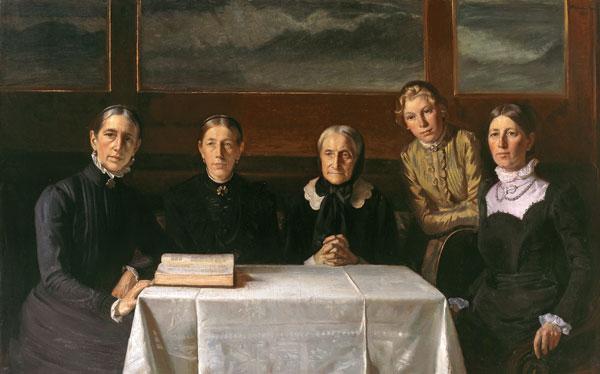 Michael Ancher. Juledag. 1900.