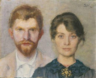 Dobbeltportræt af Marie og P.S. Krøyer