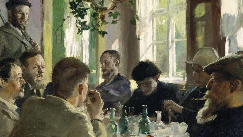 P.S. Krøyer. Ved frokosten. 1883 (detalje)