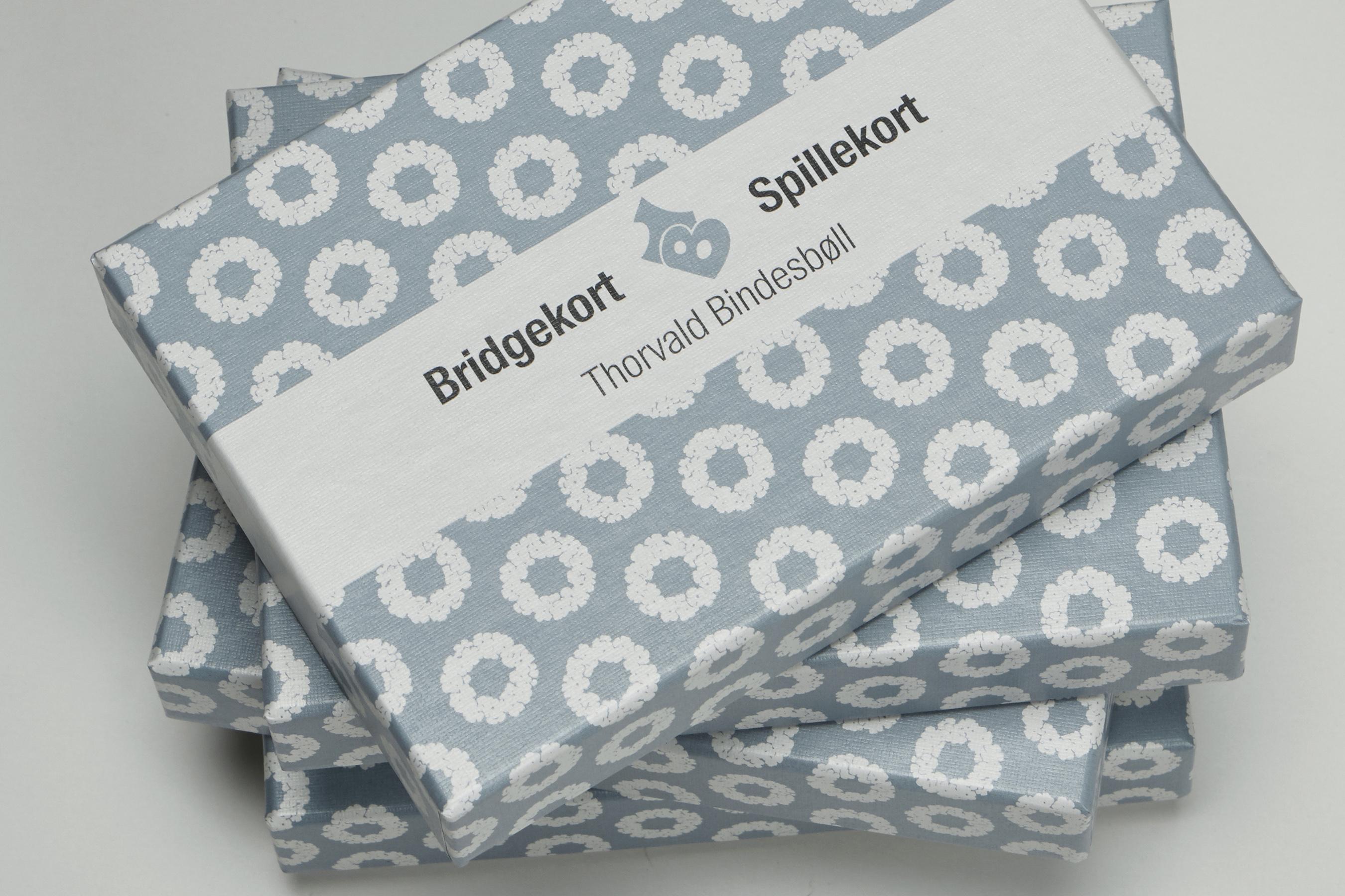 Bridgekort med Bindesbøll-motiv (blå)
