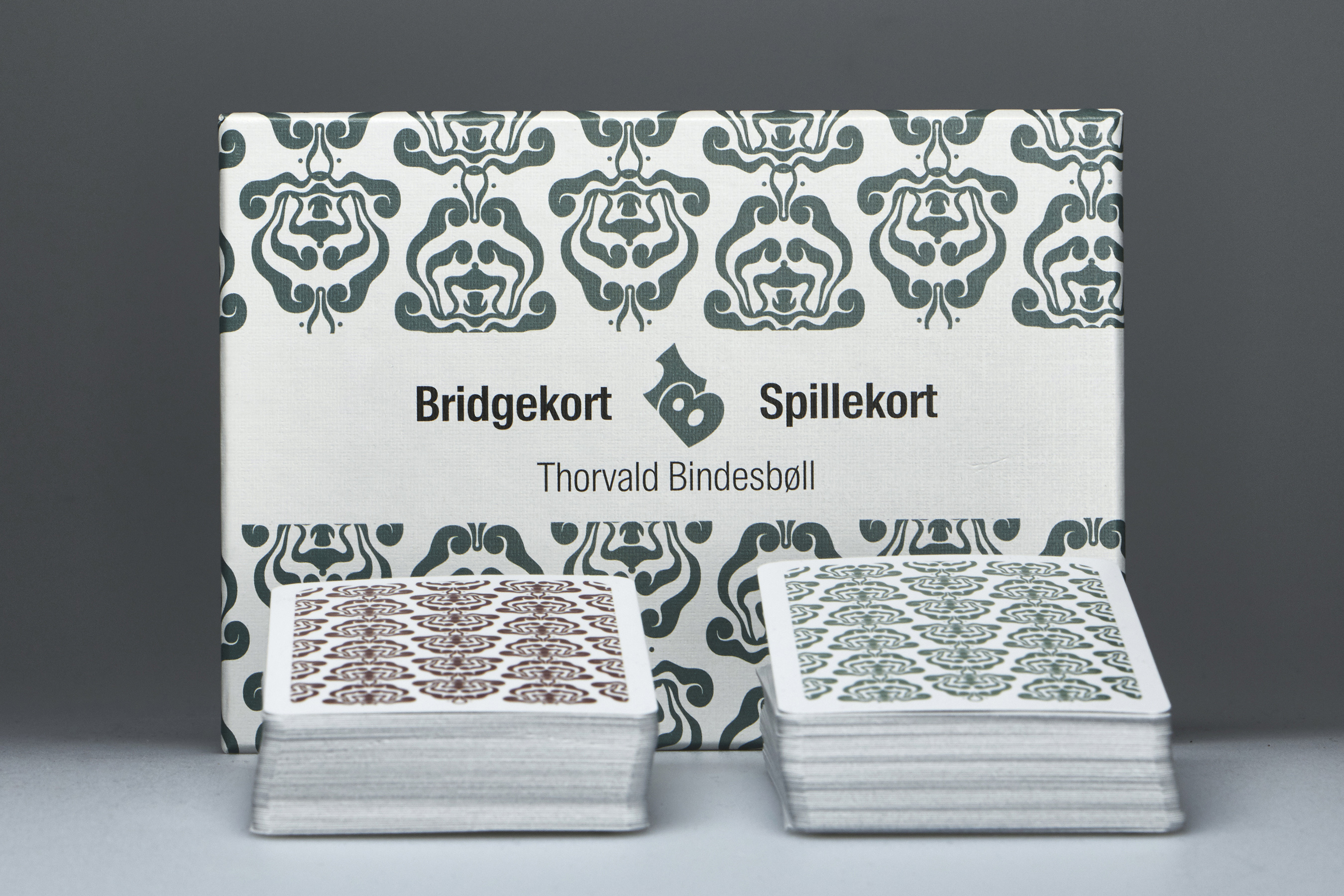 Bridgekort med Bindesbøll-motiv