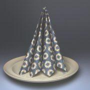 bbservietter blå på tallerken