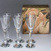 Snapseglas og æske