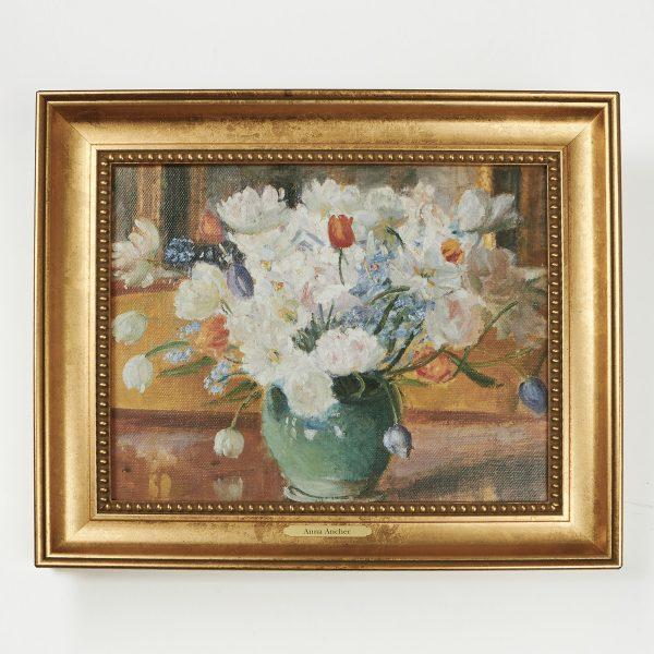 Stort Lærredsbilled - en buket blomster