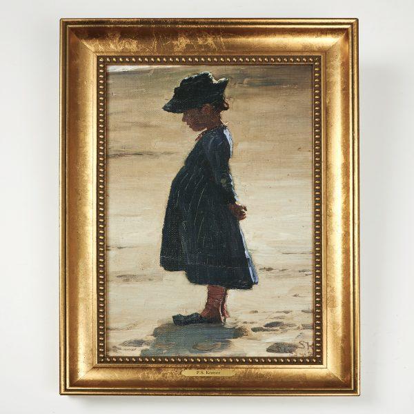 Stort lærredsbilled - lille pige