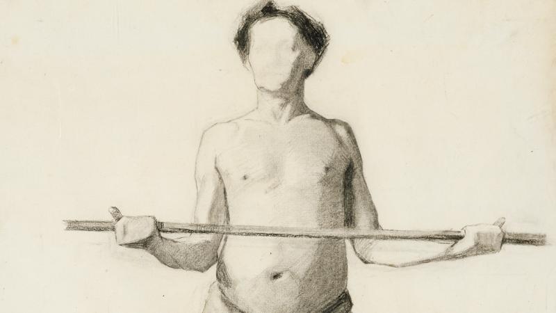 Marie Krøyer: Modelstudie (beskåret)