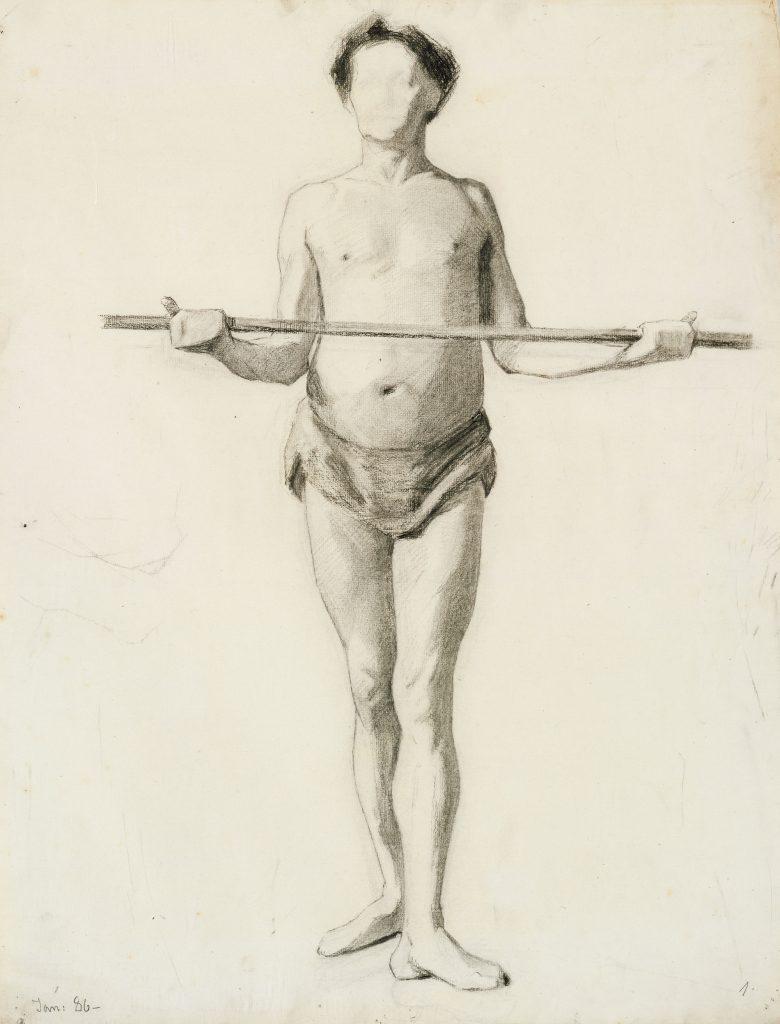 Modelstudie, Marie Krøyer. Foto: Bruun Rasmussen Kunstauktioner