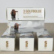 Golfbolde af mærket Titleist inspireret af skagensmalernes malerier. Vælg mellem to motiver