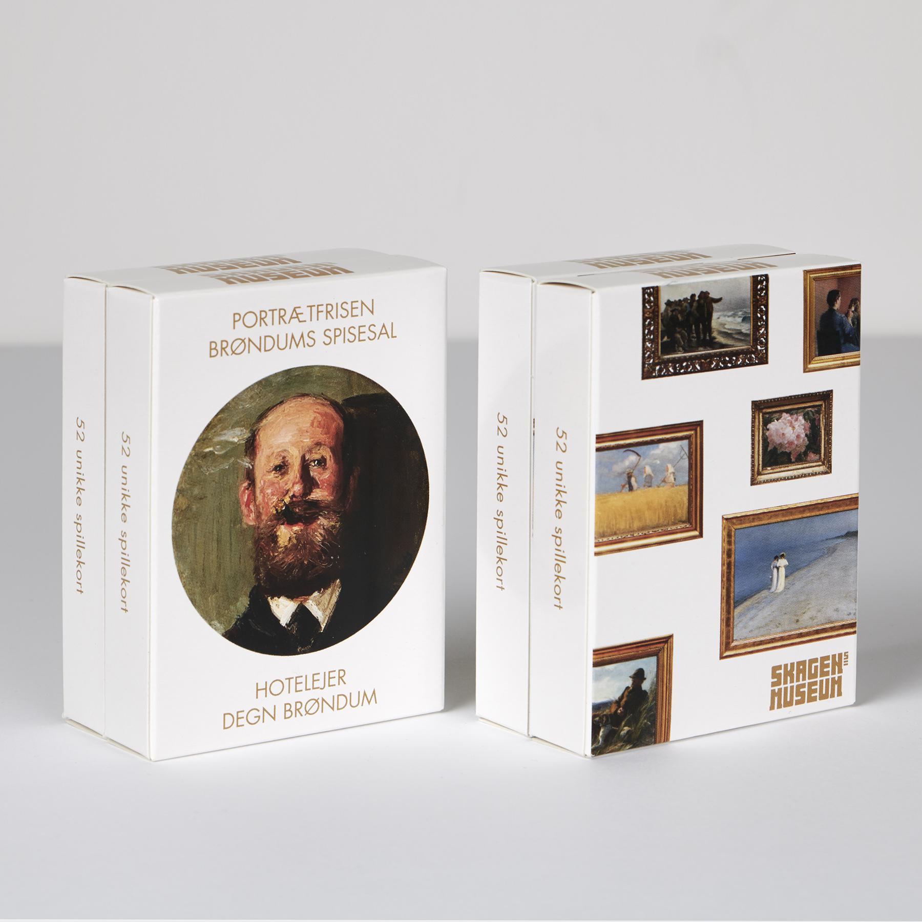 Spillekort | Vælg mellem to motiver | Portrætfrisen fra Brøndums spiselsal eller motiver fra samlingen