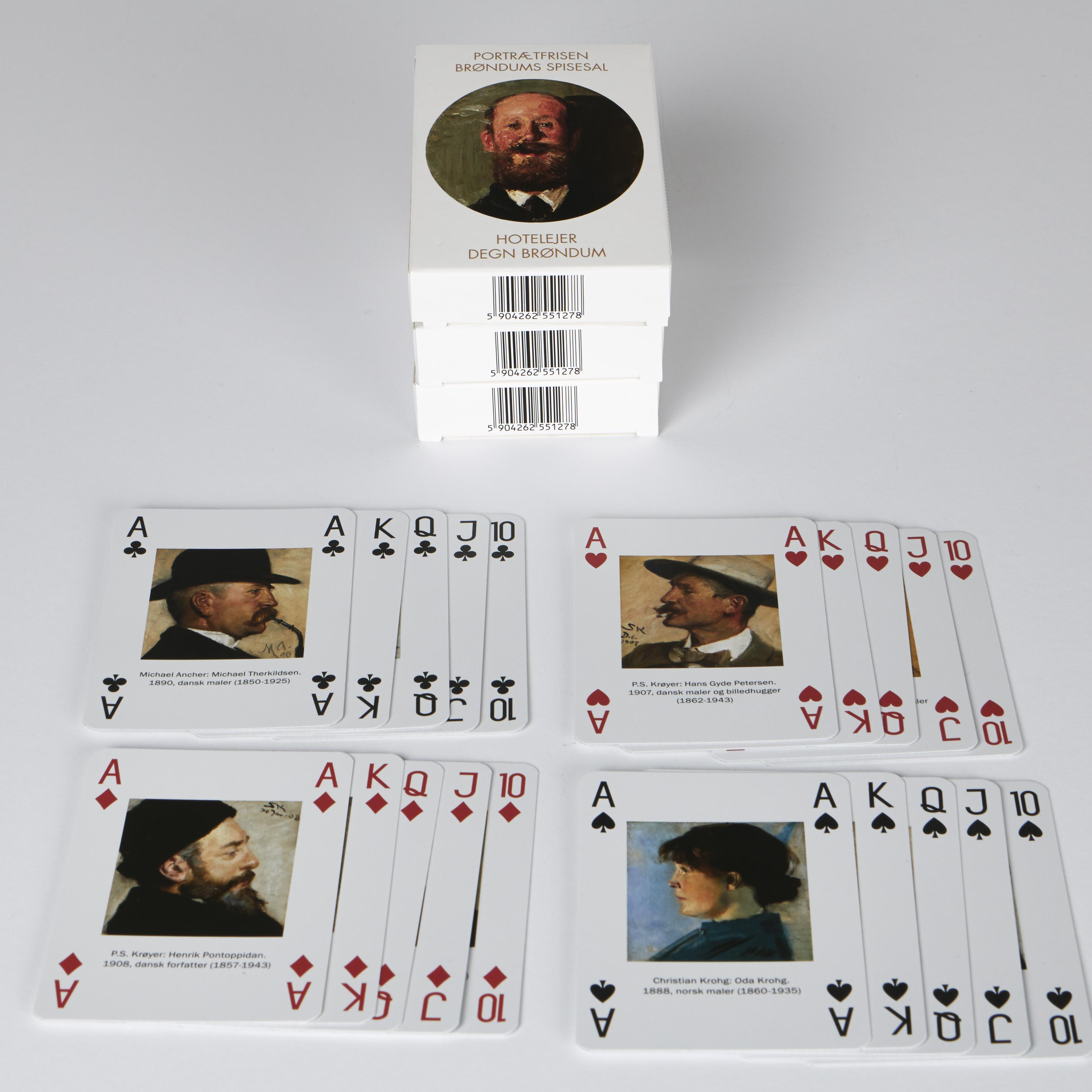 Spillekort | Æske 1 | Portrætfrisen fra Brøndums spisesal