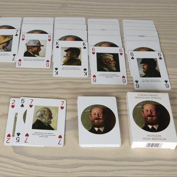 Spillekort | Portrætfrisen fra Brøndums spisesal på Skagens Museum