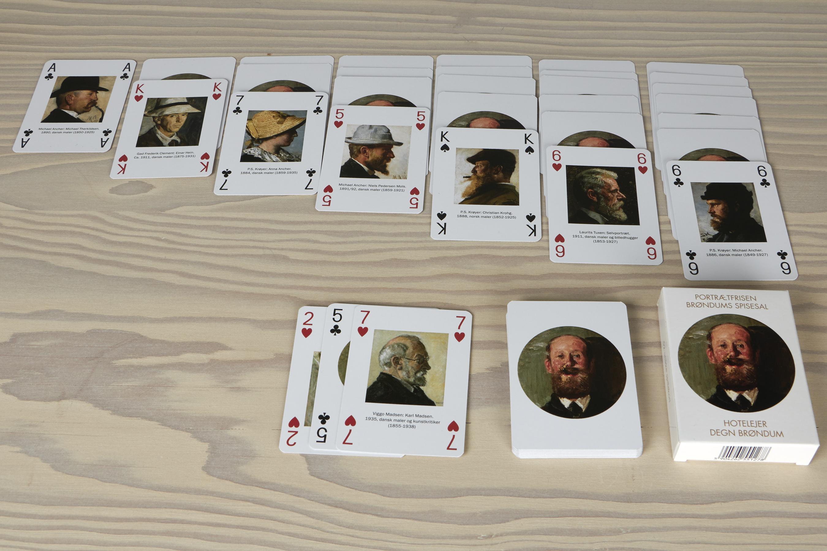 Spillekort | Æske 1 | Portrætfrisen fra Brøndums spisesal på Skagens Museum