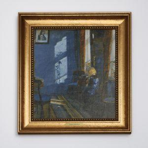 Lærredsbillede solskin i den blå stue