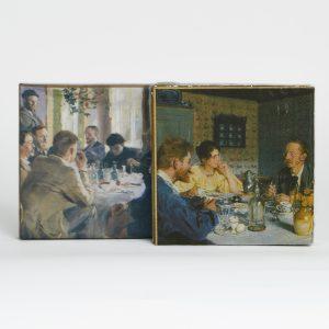 Servietter 2 motiver malet af P.S. Krøyer