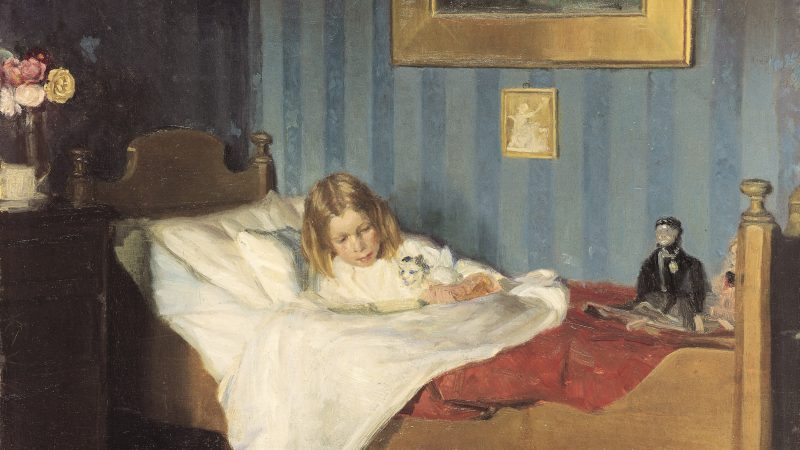 Michael Ancher: En rekonvalscent. C. 1890 | Skagens Kunstmuseer.