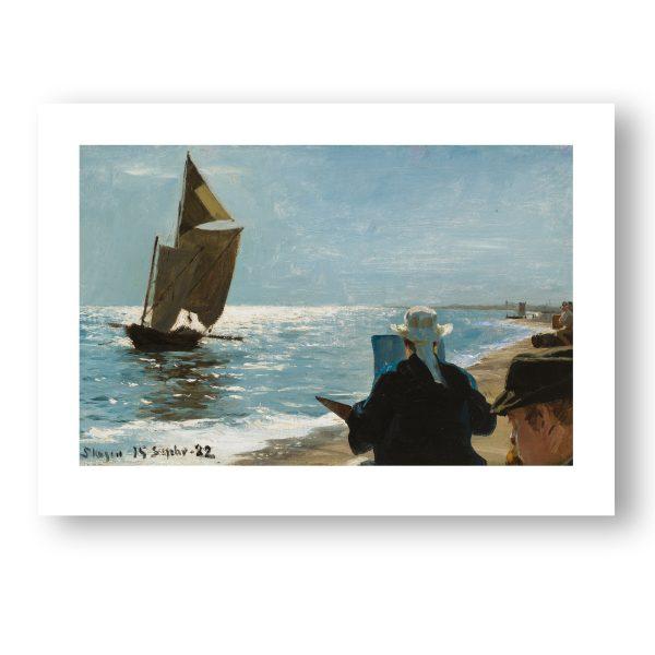 Kunstner på Skagen Strand