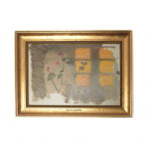 Lærredsbilleder_Solstrejf på en væg; pelargonier
