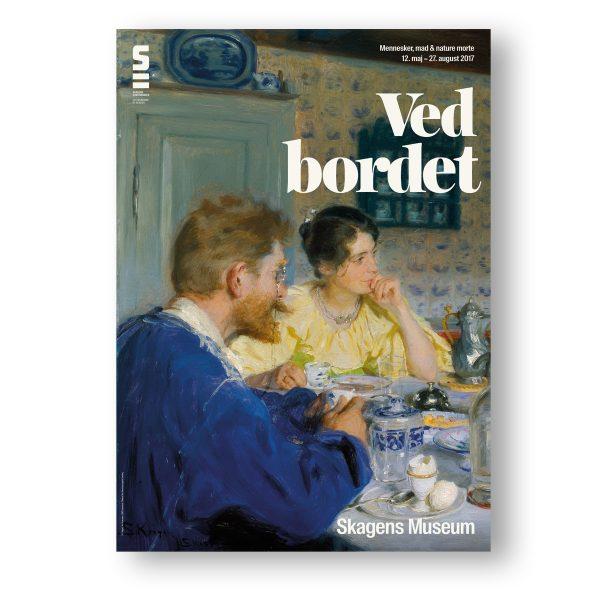 Udstillingplakat 'Ved bordet' på Skagens Museum