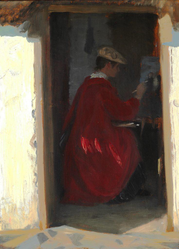 Nyerhvervelse: P.S. Krøyer: Marie malende i Ravello (1890)