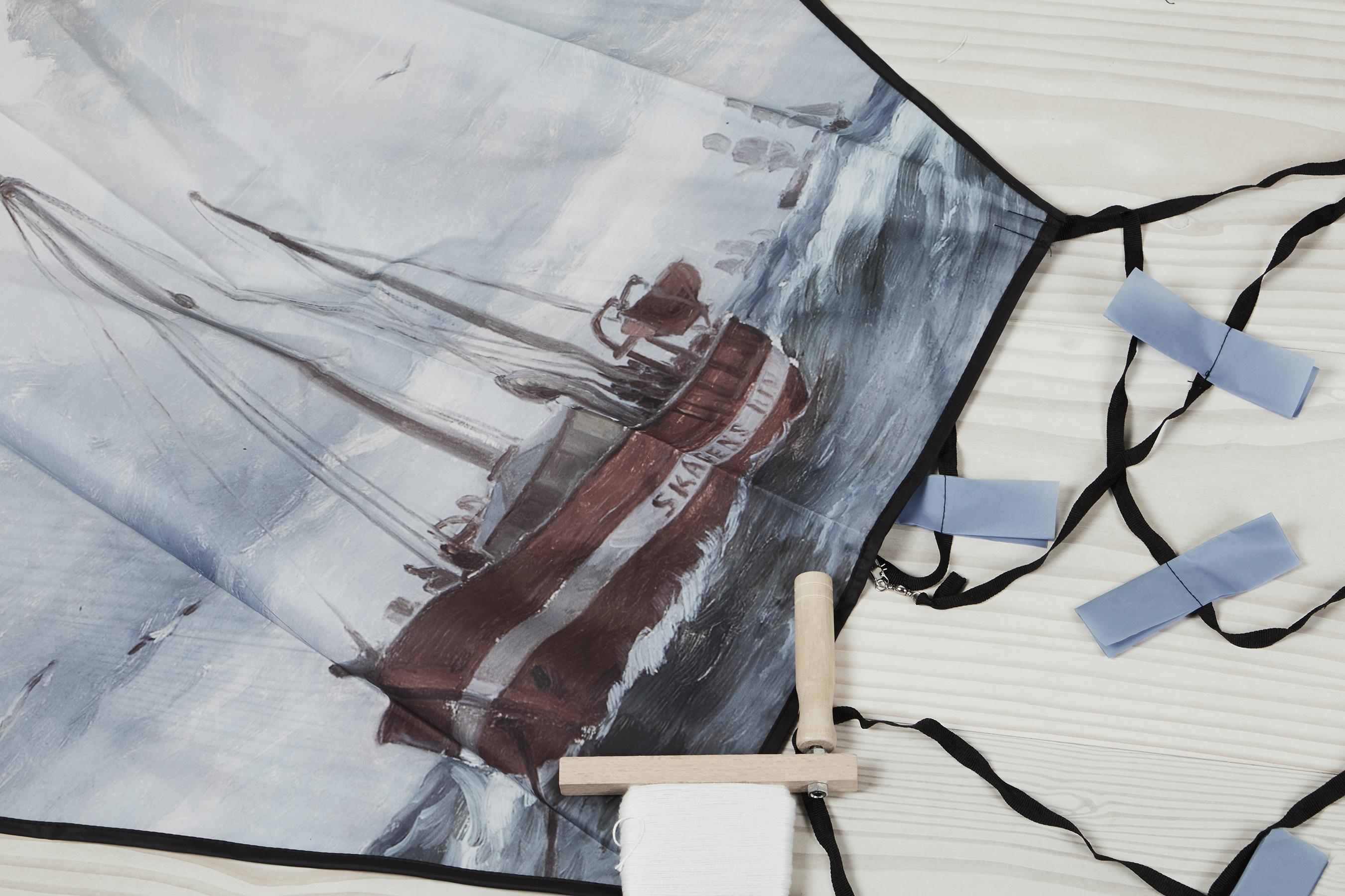 Slædedrage med Skagen Rev fyrskib
