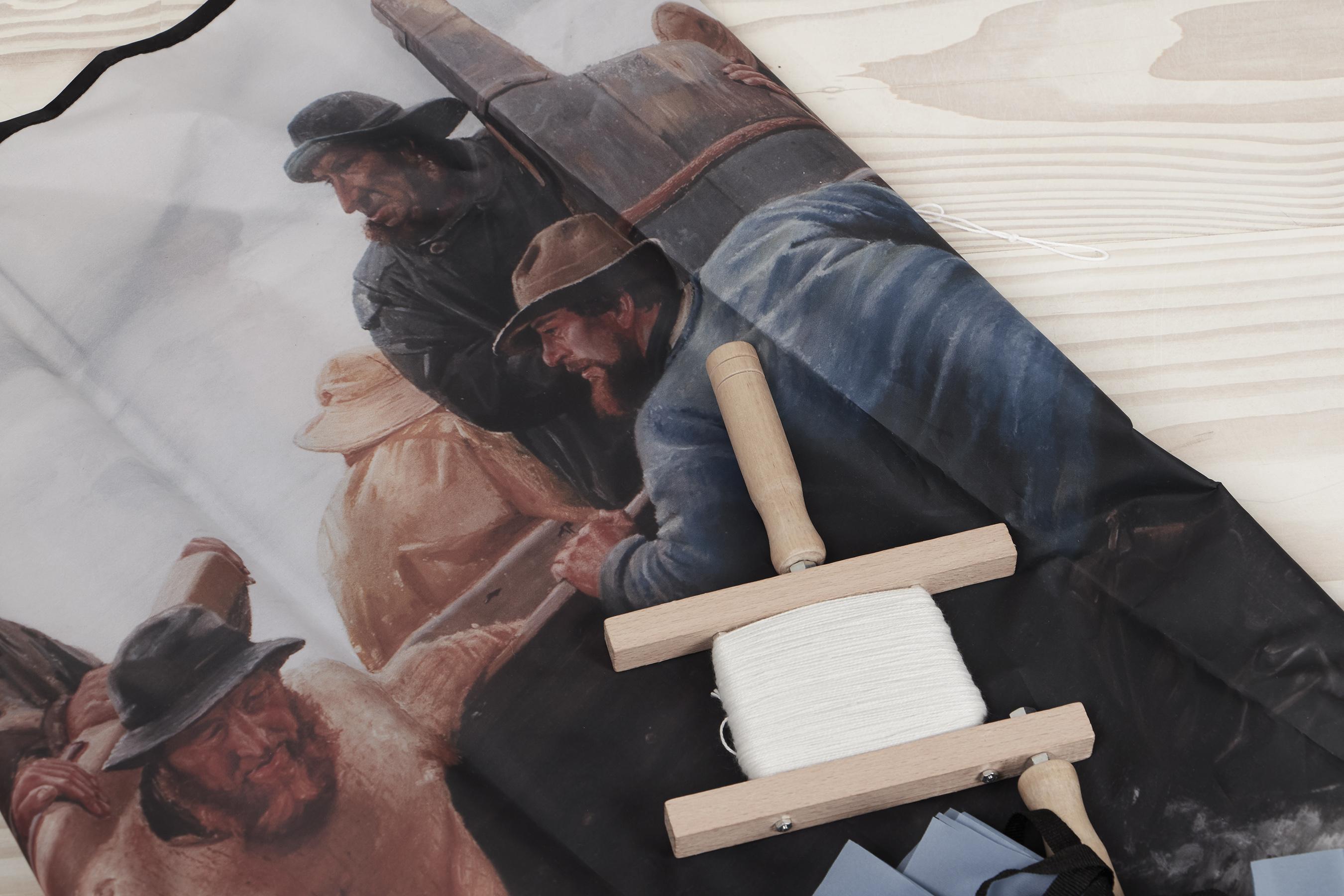 Dragesnor oven på en drage med motiv af skagensmalerne