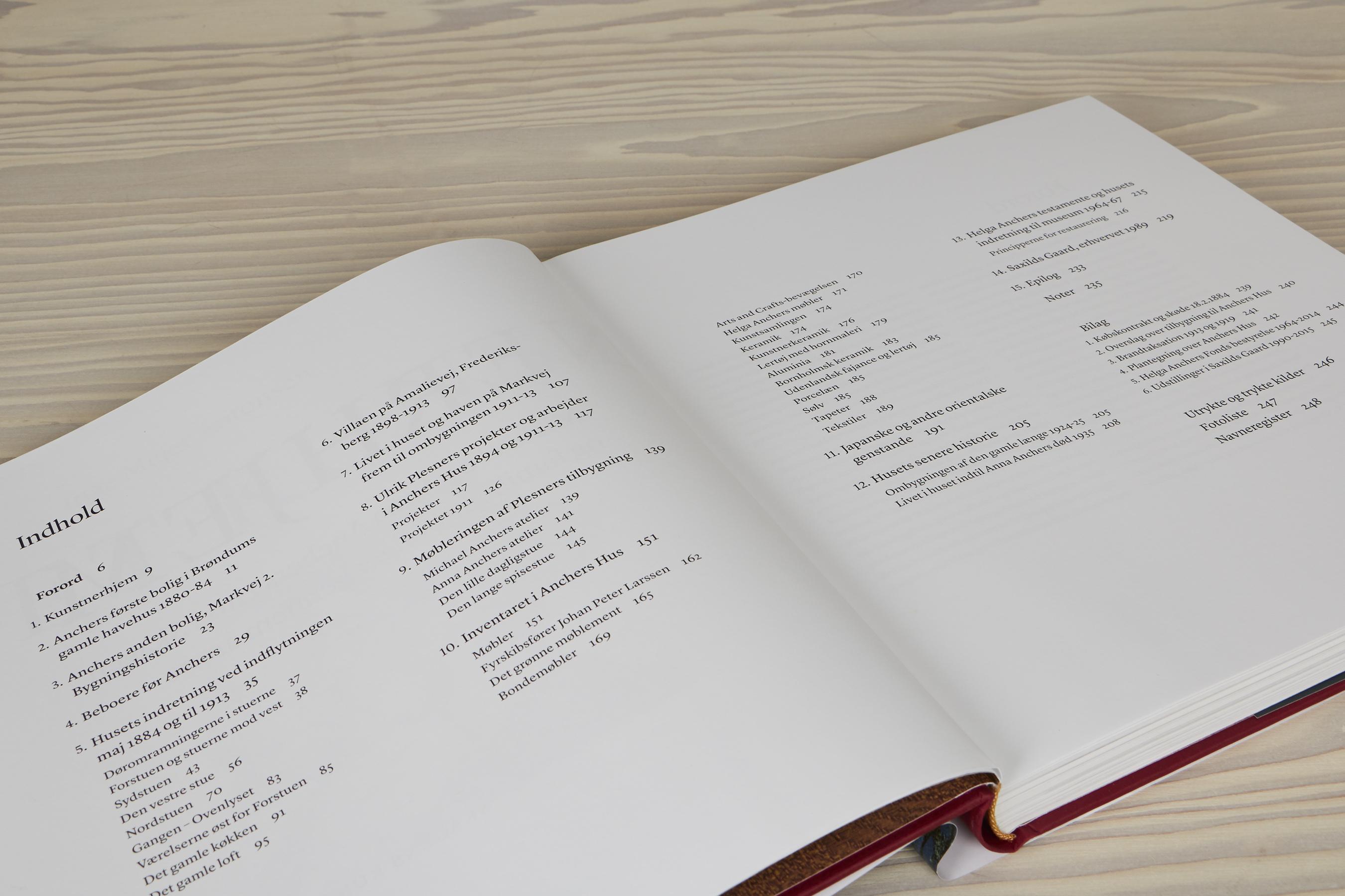 'Et kunstnerhjem. Michael og Anna Anchers Hus i Skagen og familiens boliger gennem årene' | Indholdsfortegnelse