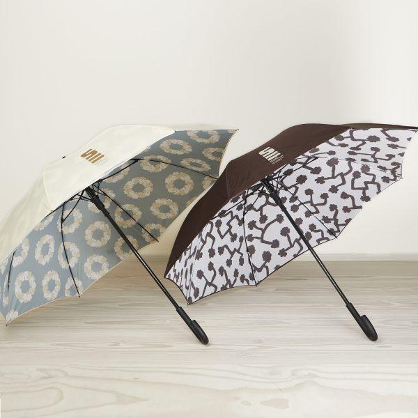 Paraply med Bindesbøllmønster