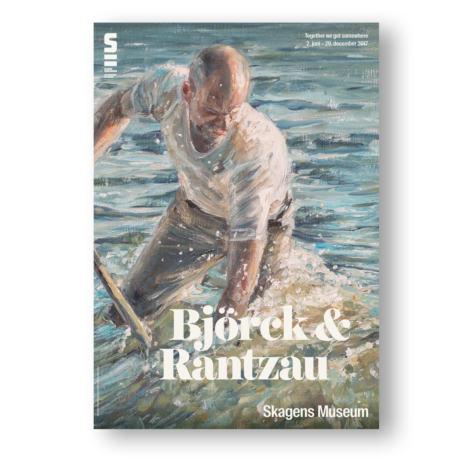 Udstillingsplakat med motiv malet af Jakob Rantzau