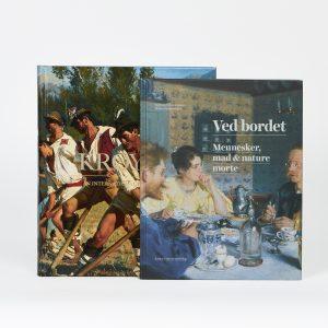 Billede af bøgerne 'Ved bordet. Mennesker, mad & nature morte' og 'Krøyer i internationalt lys'