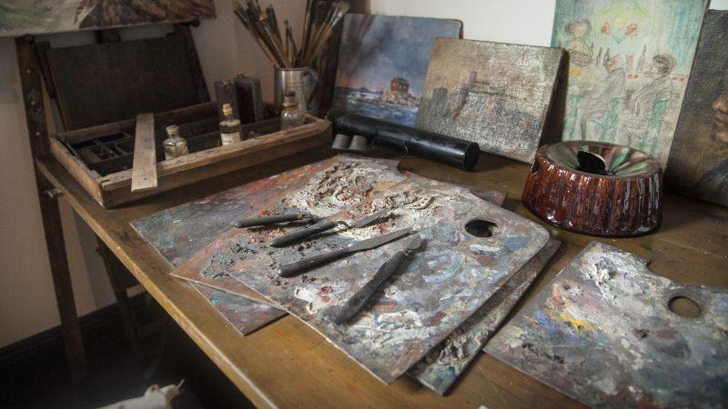Holger Drachmanns palette i Drachmanns Hus