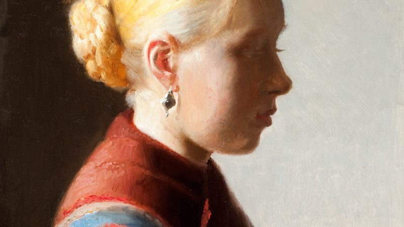 Michael Ancher: Ung pige. 1887 (detalje)